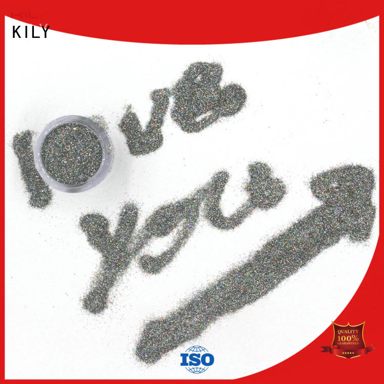 KILY professional chunky holographic glitter manufacturer for music festival