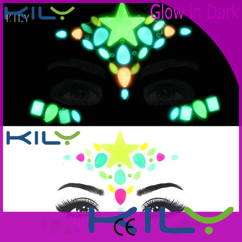 professional glow in dark face gems evening wholesale for carnival