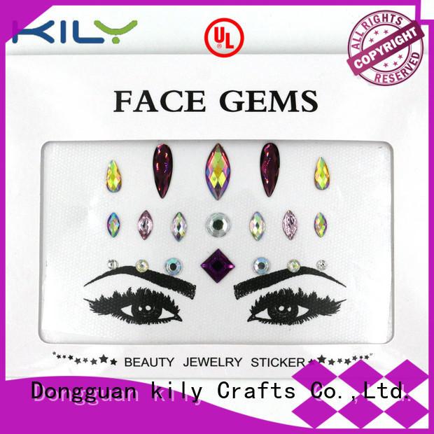 Wholesale decoration diy face gems KILY Brand