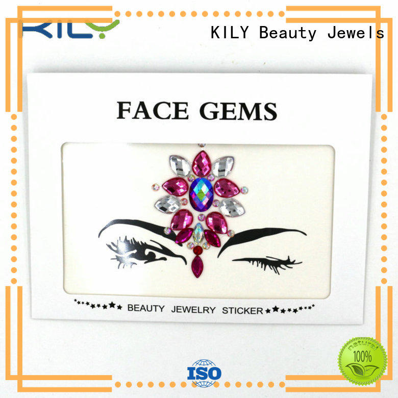 KILY red face jewels supplier for fashion show