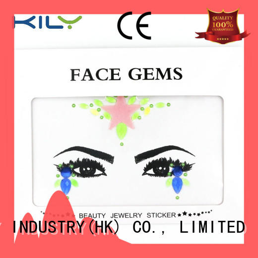 KILY professional glow in dark face gems for Christmas