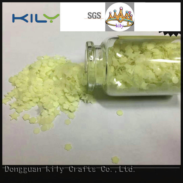 KILY glow in dark glitter with solvent resistance for garment