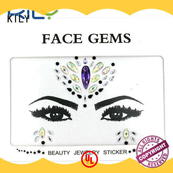 KILY professional black face gems supplier for carnival