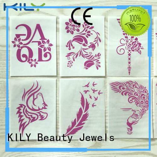 KILY Glitter Tattoo Stikcer supplier for body art