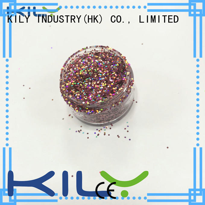 KILY professional holographic glitter powder manufacturer for sport meeting