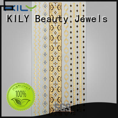 KILY professional gold & silver metallic tattoo manufacturer for sport meeting