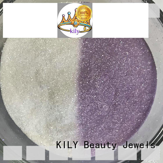 KILY high quality uv glitter manufacturer for garment