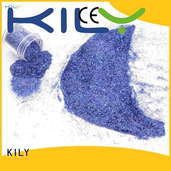 KILY gold holographic glitter powder manufacturer for music festival
